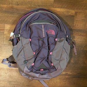Deep Purple North Face Backpack Schoolbag